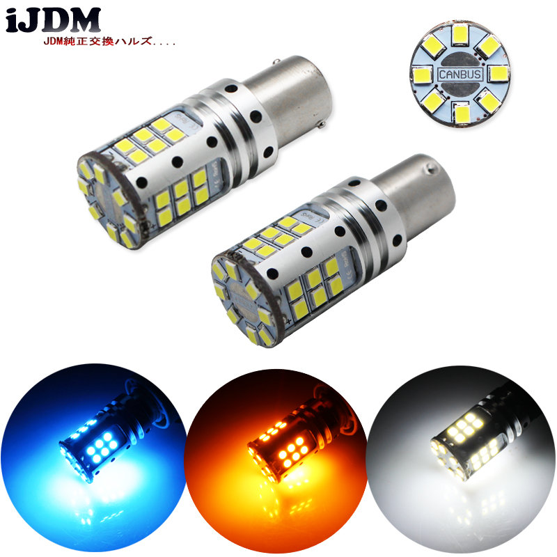 iJDM Car Tail Light 1156 LED Canbus BA15S/P21W BAU15S/PY21W S25 3030 32SMD Auto Brake Reverse Lamp DRL Rear Parking Bulb