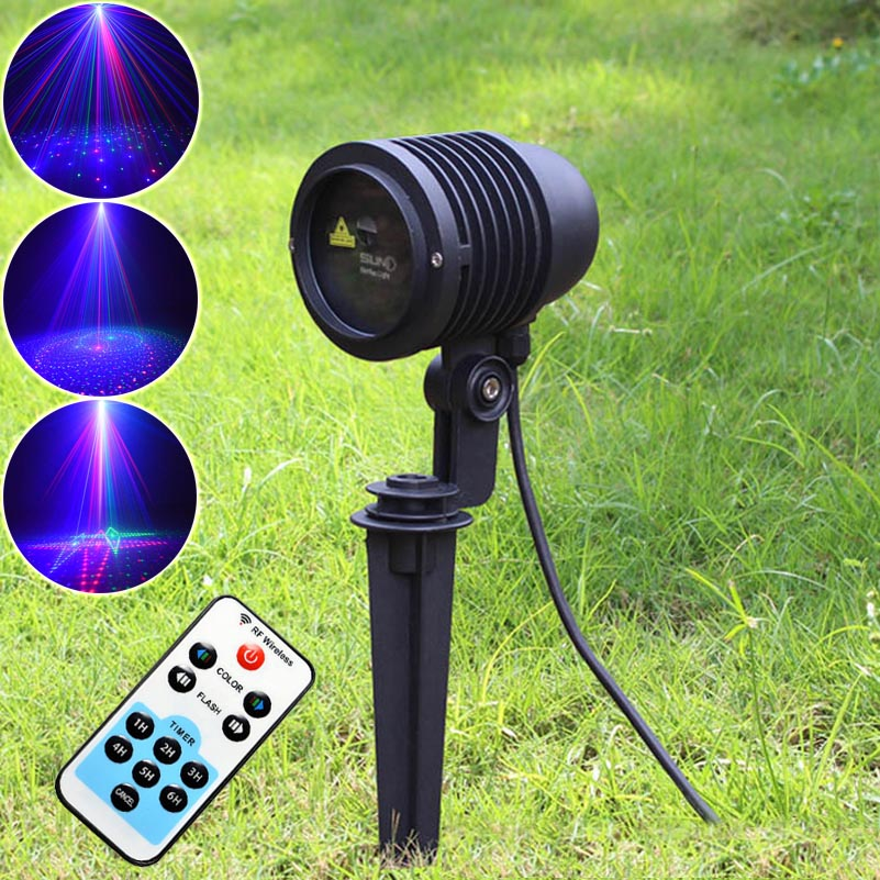 20 patterns rgb projector shower outdoor holiday waterproof laser lights remote christmas party - Outdoor laser light show ...