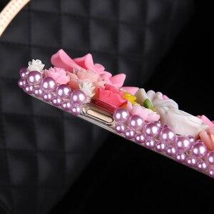 Image 3 - 럭셔리 DIY 다이아몬드 3D 핑크 장미 꽃 블링 케이스 아이폰 12 미니 11 프로 맥스 XS 맥스 XR X 6s 6 8 7 플러스 5 5s SE 2020 Fundas