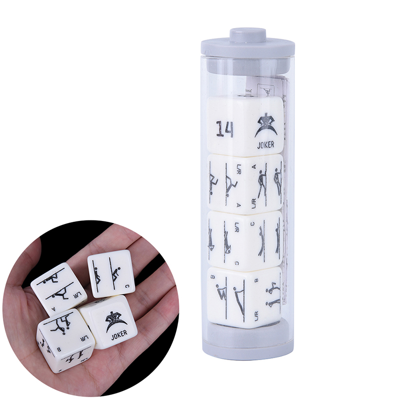 4Pcs/set  fitness dices  new acrylic fitness exercise action dice Toys