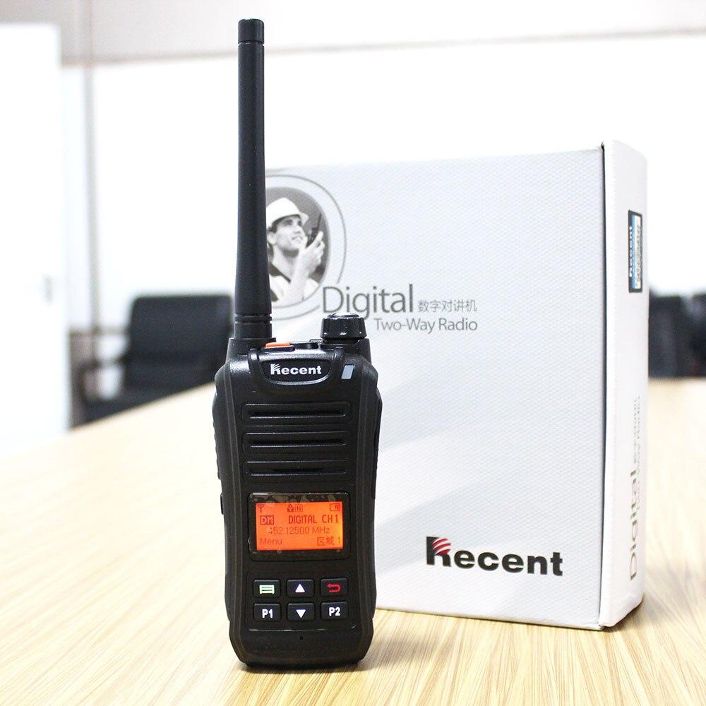 2 PCS Profesional 2 W dPMR Radio Digital UHF Walkie Talkie 256 Saluran Radio Transceiver dengan Aksesoris LCD Display