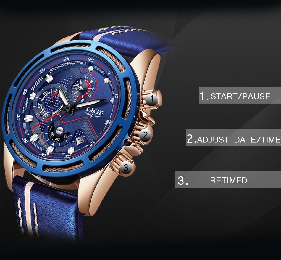 HTB1Qa0iXlSD3KVjSZFqq6A4bpXaT LIGE Watch Men Fashion Sport Quartz Clock Leather Mens Watches Top Brand Luxury Blue Waterproof Business Watch Relogio Masculino
