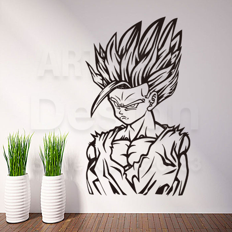 Online Buy Wholesale Saiyan Stickers From China Saiyan Stickers - Dragon ball z wall decals