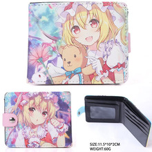 Anime TouHou Project Synthetic Leather Short Exquisite Wallet/Flandre Scarlet Button Purse