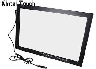 Free Shipping! 2PCS 60 10 points IR touch screen + 1PCS 55 10 points IR touch screen, driver free, plug and play