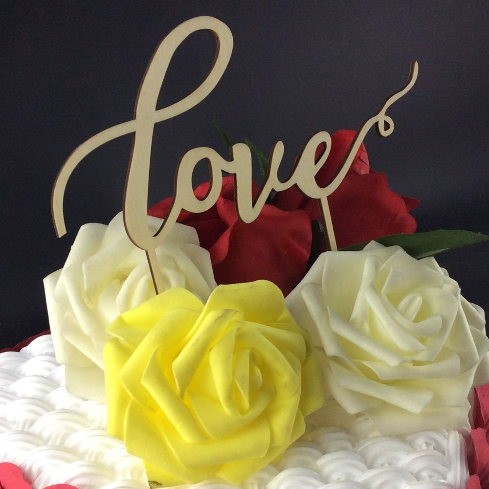 ộ_ộ ༽SD-471 Free Shipping Personalized Wood Wedding Cake Topper ...