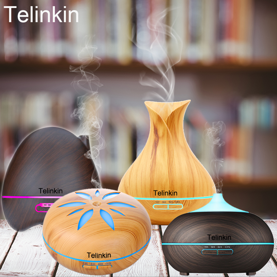 Telinkin Humidifier Aroma Air Electric for home yoga with Remote Control diffusers of essential oils for aromatherapy mist maker