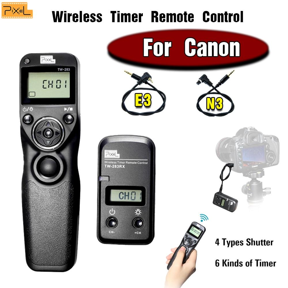 Pixel TW-283 Wireless Timer Remote Control Shutter Release Cable For Canon 60D 700D 650D 600D 550D 450D 400D 300D 1100D 1000D 5D