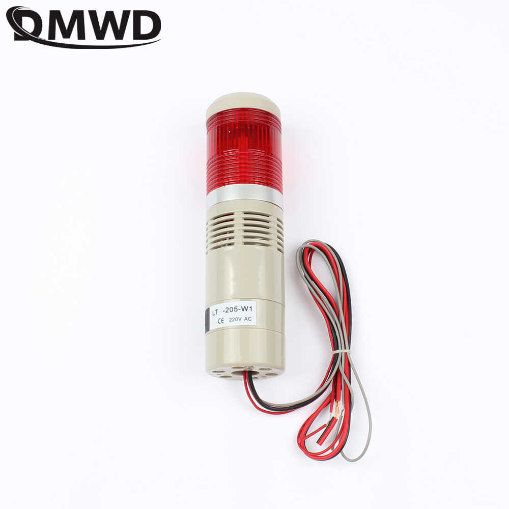 110//220V Alarm Warning Light Industrial LED Signal Tower Buzzer Red Green Yellow
