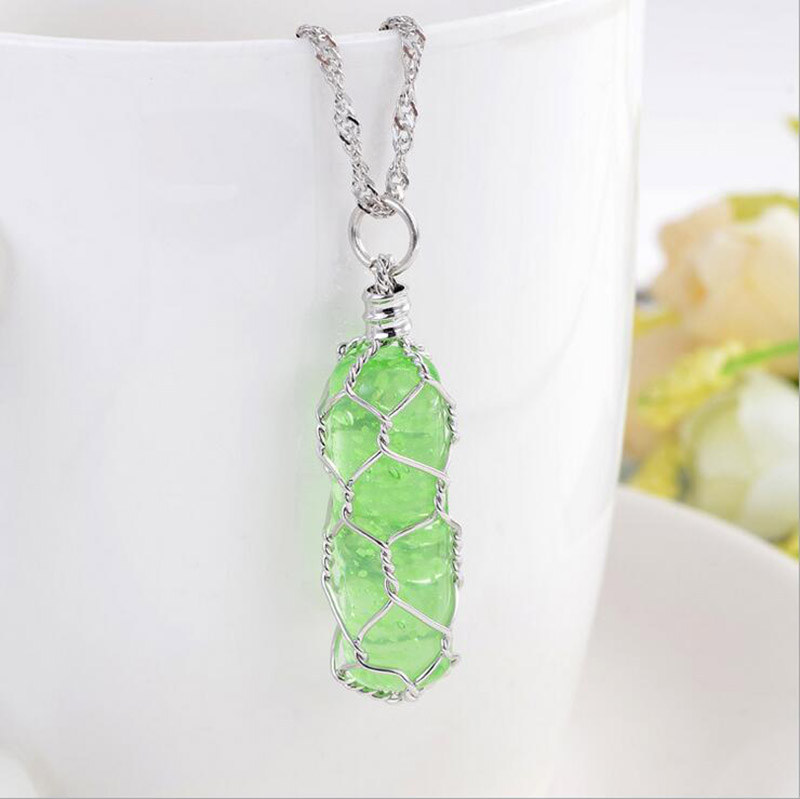 Glow In The Dark Charming Luminous Cylindrical Pendant Necklace
