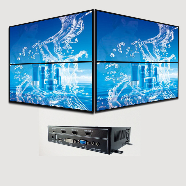 2x1 video wall by allgee ag604 video wall controller