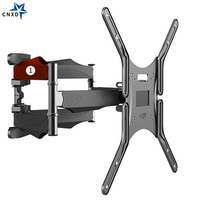 Full Motion 32 65 LCD LED TV Wall Mount Retractable TV Rack Wall Mount Lcd Bracket 6 Swing Arms MAX VESA 400x400mm
