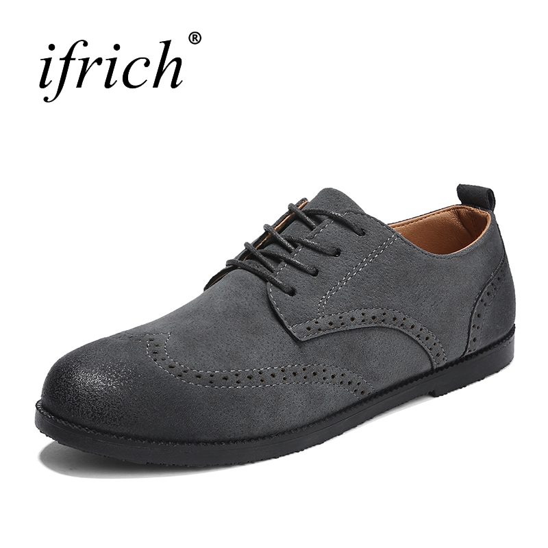 Dress Shoes Men Lace Up Mens Spring Summer Footwear Rubber Brogue Footwear Pointed Toe Shoes for Men Cheap