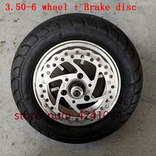 10 inch electric scooter wheels 6 inch wheel hub + 3.50 6 vacuum Road tyre + Brake disc fits Folding electric scooter,electric s