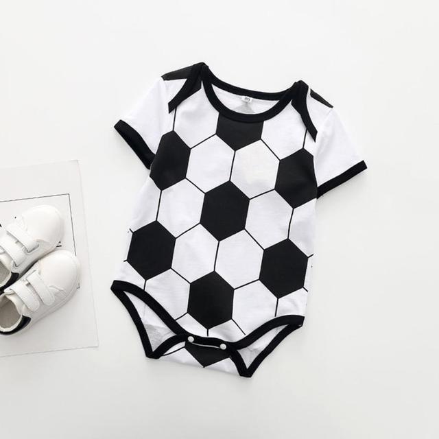 MUQGEW Newborn Toddler Baby Boys Striped Football Soccer Referee Romper  Jumpsuits Cartoon Printed Romper Jumpsuit Climbing e85f3aaff