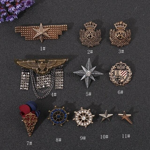 Harajuku солдат медаль пятиконечная звезда Женская Брошь Лодка Якорь булавка личность нейтральный праздничный значок костюм иглы Мужские булавки