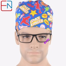 Matin Surgical caps for doctors and nurses 100% cotton Cap and short hair with Sweatbands