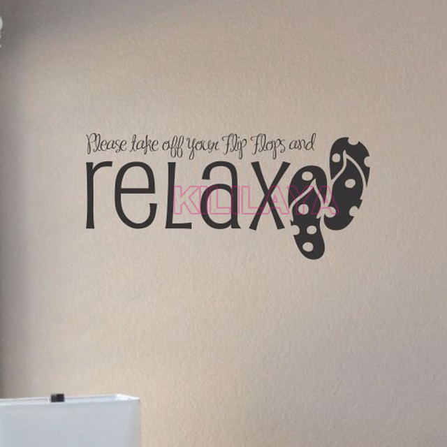 Stickers Take Off Your Flip Flops And Relax Vinyl Wall Sticker Decals Art  Wallpaper For Living