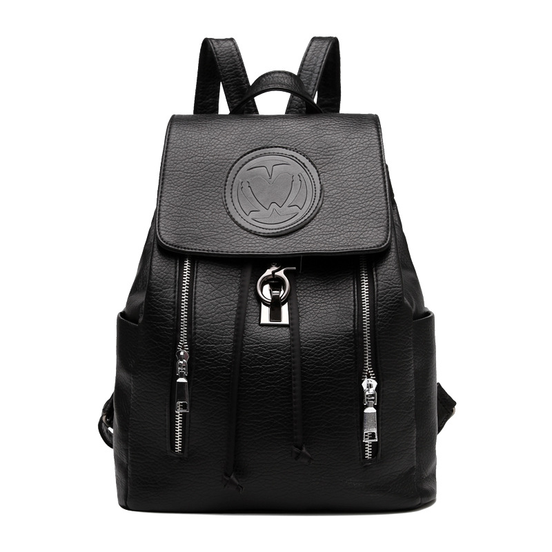 2017 Women Backpack High Quality PU Leather Mochila Escolar School Bags For Teenagers Girls Top-handle Backpacks Herald Fashion