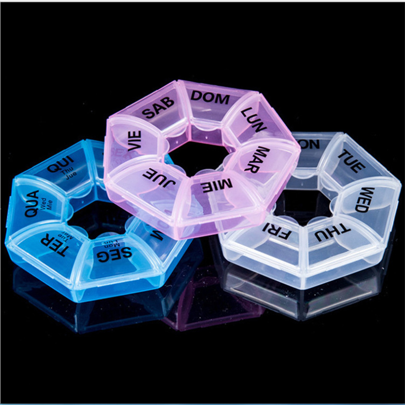 Container Case Tablet Organizer Medicine Weekly-Pill-Storage-Box Travel Box-Holder Portable