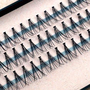60 Pieces  Black  Fashion False Eyelashes Individual Eye Lash Lashes Extension Makeup Pretty  Girl Tools  8/10/12mm NK123