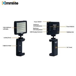 Image 3 - مصباح فيديو بكاميرا LED من Commlite CM L50 ، 50 مصباح LED 5700 6000K مصباح لوحي صغير قابل للتعتيم لكاميرات كانون ونيكون والهاتف الذكي