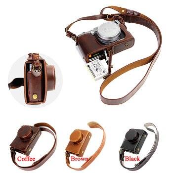 Luxury Camera Case Video Bag For Fujifilm FUJI X100 X100S X100T PU Leather Camera Bag With Strap Open battery design grande bolsas femininas de couro