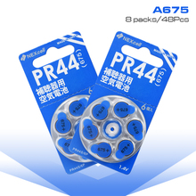 New 48Pcs 8 packs 675 675A 1.4v Zinc air Hearing Aid batteries A675 PR44 P675 For aid Batteries button coin cell Battery