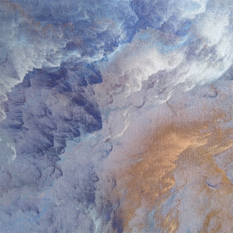 Image 5 - Abstract beautiful clouds blue gold white home bedroom bedside entrance elevator floor mat sofa coffee table anti slip carpet-in Carpet from Home & Garden