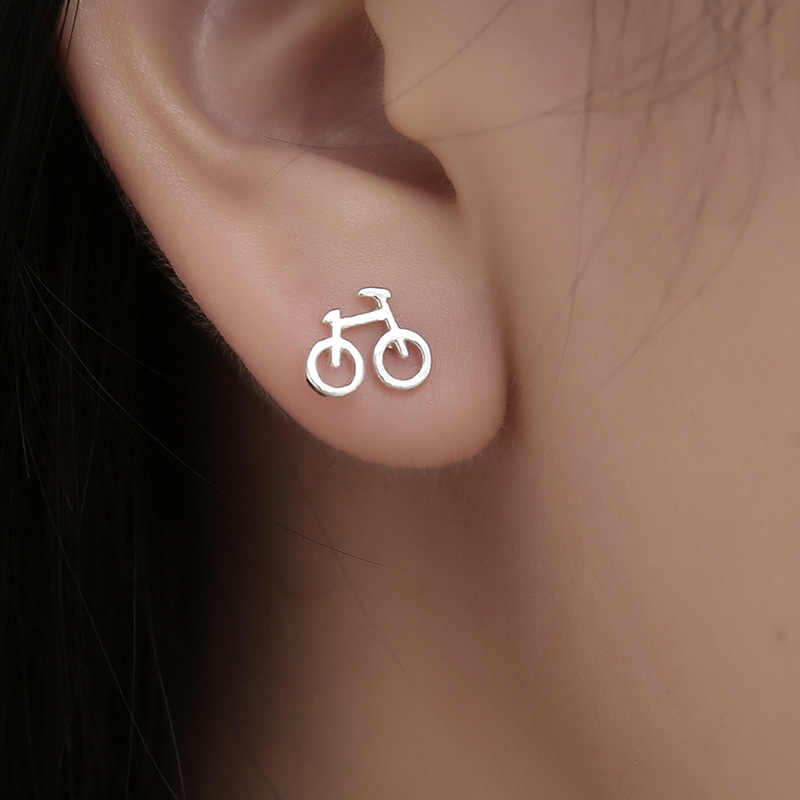 New Arrival Fashion Vintage Jewelry for woman Cute Bike Design Love Bicycle stud Earrings