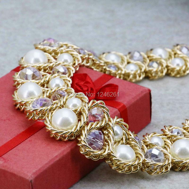 Oferta especial de Cristal de Perlas de Imitación de Cristal Collares y  Pendientes Conjuntos Para Mujeres Niñas Cadena Encanto 3Row Joyería  Artesanía 18 ... 8cfb21c8070
