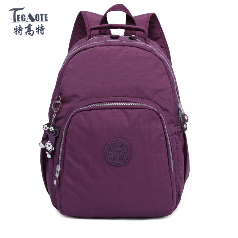 TEGAOTE Backpack for Teenage Girls Mochila Feminine Small Backpack Female Solid Famous Casual Women Travel Backpack
