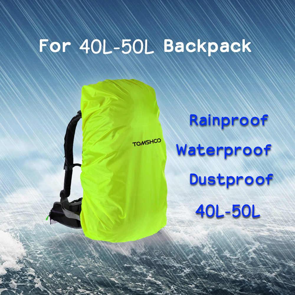 TOMSHOO Rucksack Regen Abdeckung Wasserdicht reißfeste Reflektierende Tasche Abdeckung für Outdoor Wandern Camping Reisen Rucksack Abdeckung