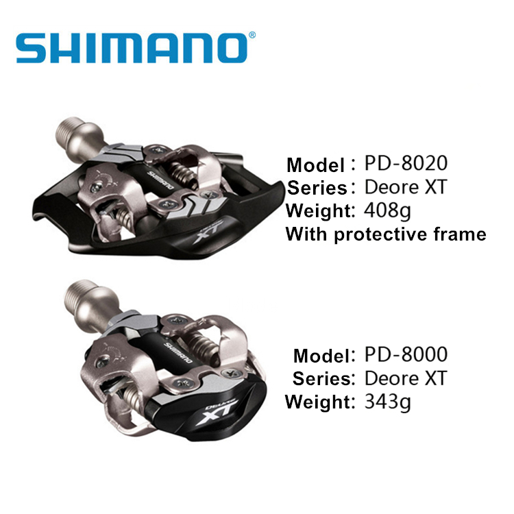 Shimano DEORE XT PD M8000 M8020 Pedals Self Locking SPD