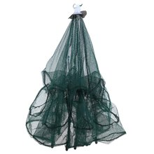 High Quality Small 6 Hole Mesh Hexagon Folded Fishing Net Catch Fish Pot Minnow Trap Ruse Cast Shrimp Net Lobster Basket Cage