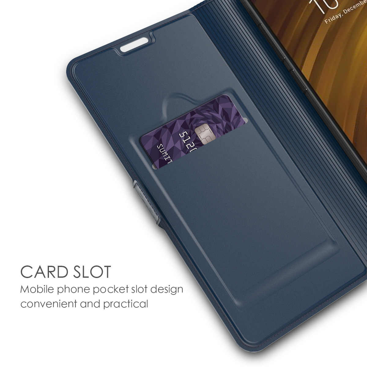 Untuk Xiao Mi Merah Mi Note 7 8 Pro Case Dompet Kulit Flip Stand Cover untuk Xiao Mi Pocophone F1 mi 9T CC9 Pro MI CATATAN 10 Kasus Kartu
