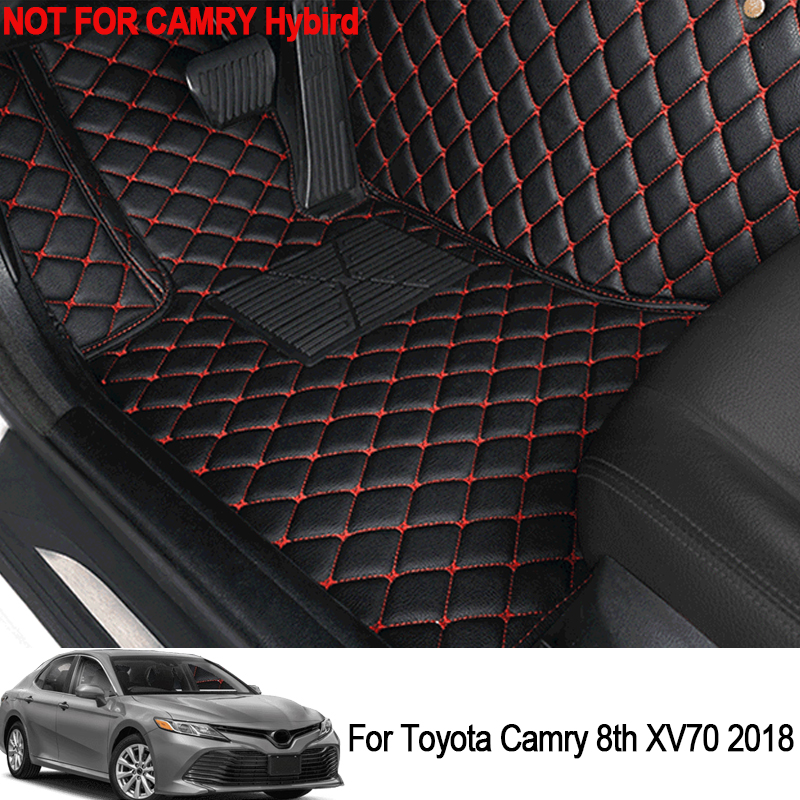For LHD Toyota Camry 8th XV70 2018 Car Floor Mats Custom Rugs Auto Leather Interior Floot Mat Protector Interior Accessories