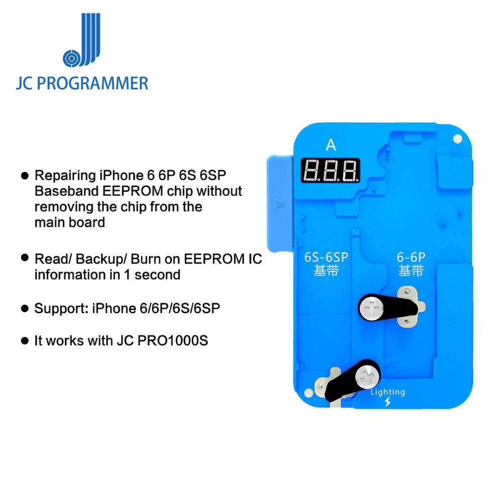 JC PRO1000S For IPhone 6/6S/6S/6SP/7/7P/8/8P Baseband IC Chip Programmer motherboard Chips Read /Write Repair ToolJC PRO1000S For IPhone 6/6S/6S/6SP/7/7P/8/8P Baseband IC Chip Programmer motherboard Chips Read /Write Repair Tool