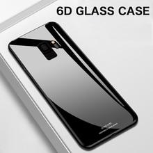 Роскошный зеркальный чехол из закаленного стекла для телефона Samsung Galaxy S20 S10 e S9 S8 5G Note 10 9 8 Plus, силиконовый защитный чехол