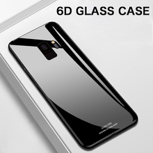Luxury Mirror Tempered Glass Phone Case For Samsung Galaxy S20 S10 e S9 S8 5G Note 10 9 8 Plus Silicone Protection Cover Funda