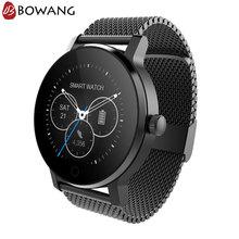 Купить с кэшбэком Men Hybrid Smart Watch Stainless Steel Smartwatch BOWANG Business Heart Rate Waterproof Siri Control Mic IOS Android W09