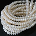 Charms white natural pearl beads cultured freshwater abacus elegant for women Fashion jewelry making  15inch B1336