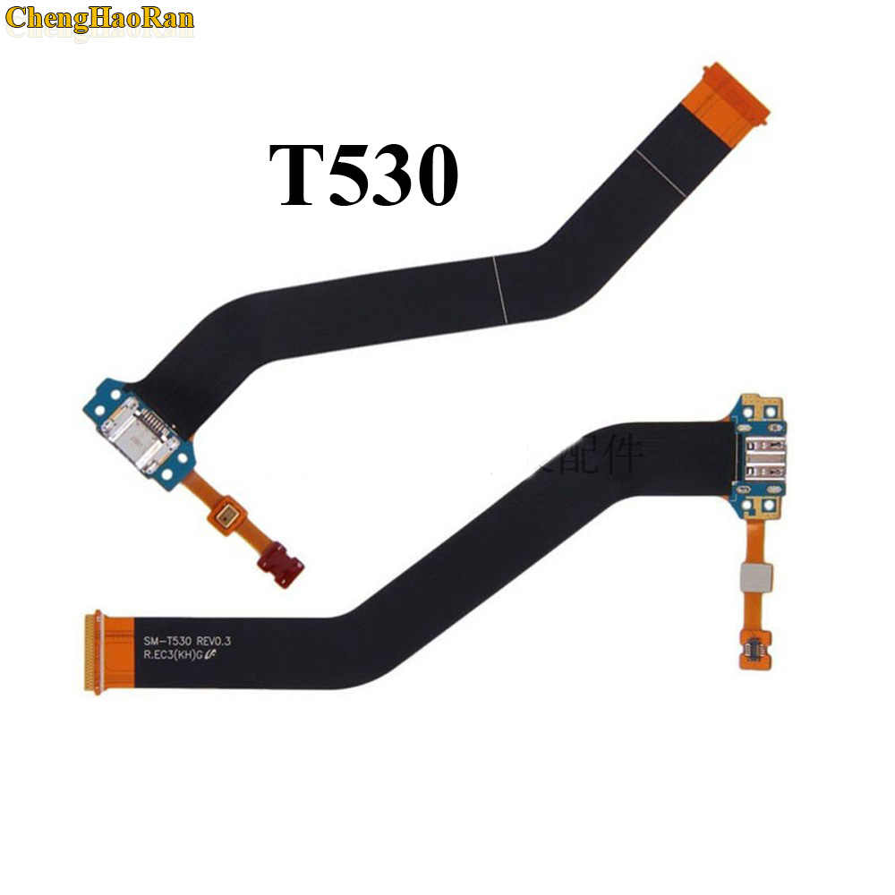 USB ميناء الشحن موصل المكونات تهمة حوض مقبس متفرع الكابلات المرنة لسامسونج غالاكسي تبويب 4 10.1 T530 SM-T530 T531 T535