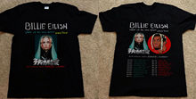 Billie Eilish World Tour 2019 with Special Guest DENZEL CURRY T-Shirt Size S-3XL Male Pre-Cotton Clothing 100% Cotton T Shirt