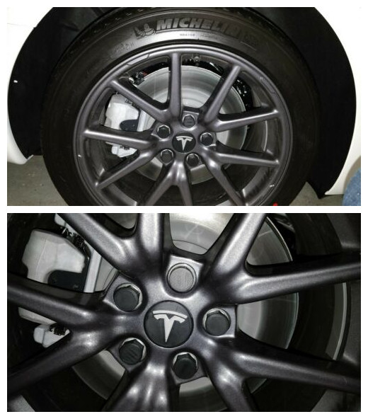 Image 3 - For Tesla Model 3 Wheel Nut Covers  Lug Nut Covers   Glossy Black-in Wheel Center Caps from Automobiles & Motorcycles