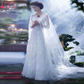 Длительный Простой Тюль Свадебное Куртка Свадебные аксессуары Дешевые кот свадебное кабо болеро де ренда Z527
