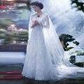 Long Simple Tulle Wedding Jacket Wedding accessories Cheap ivory wedding cape bolero de renda   Z527