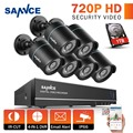 SANNCE 8CH 1080P HDMI Output CCTV System 6PCS 720P TVI CCTV Security Cameras Waterproof IR outdoor Surveillance Kit 1TB HDD
