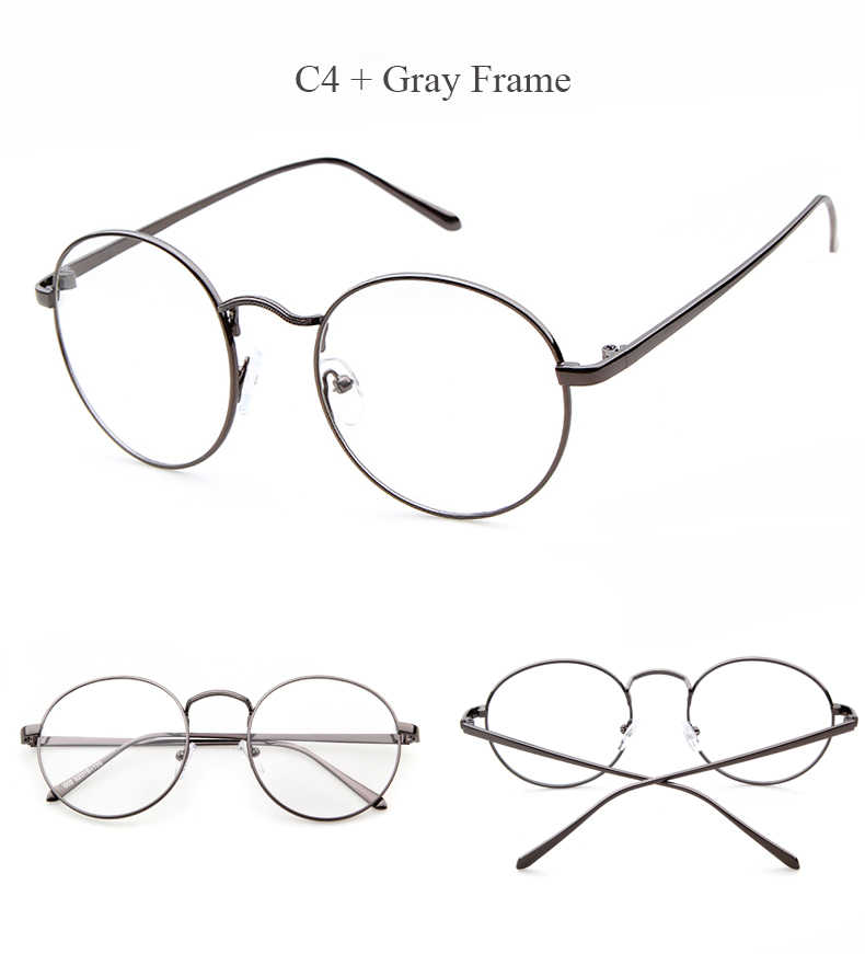 4c1d042b661a ... LongKeeper Oversized Korean Round Glasses Frame Clear Lens Women Men  Retro Gold Eyeglass Optic Frame Eyewear ...