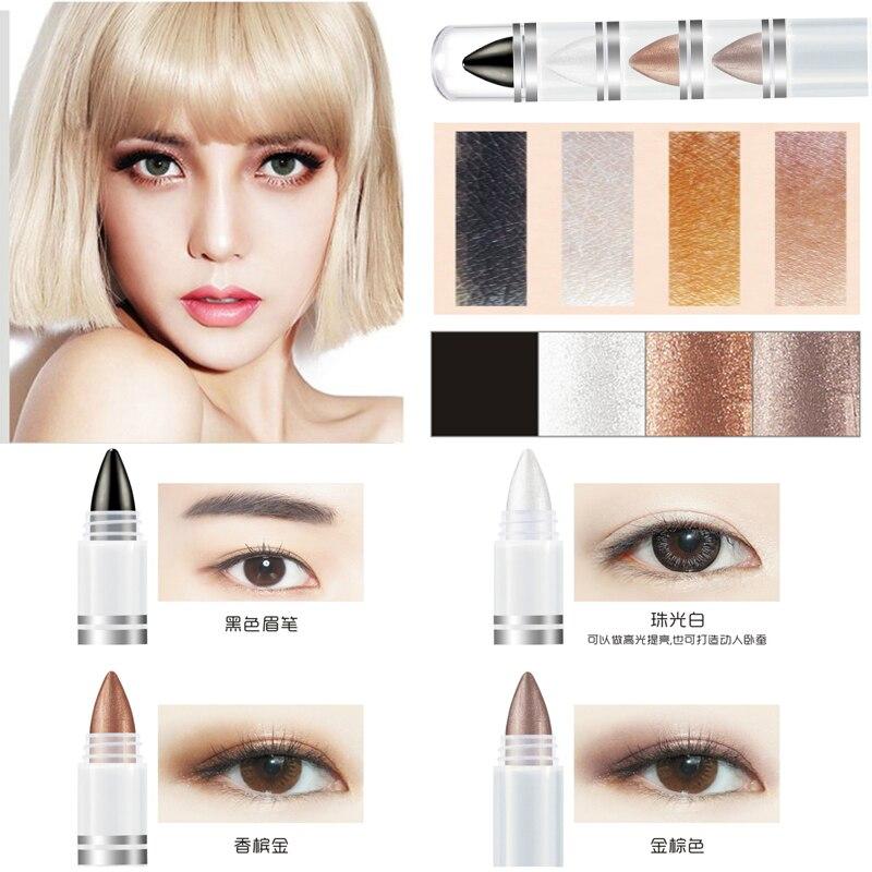Multicolor Eye Shimmer Mineral Eye Makeup Shadow Waterproof Natural Pigment 4 Metallic Nude Glitter Colored Eyeshadow Pencil